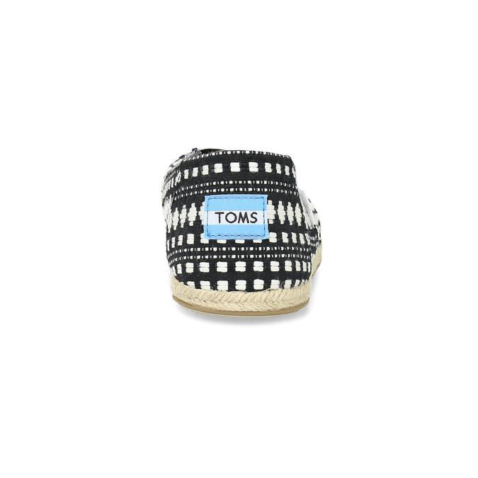 Dámské espadrilky s černo-bílým vzorem toms, černá, 519-6013 - 15