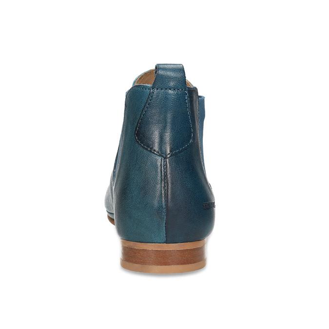 Dámské kožené modré Chelsea Boots ten-points, modrá, 516-9044 - 15