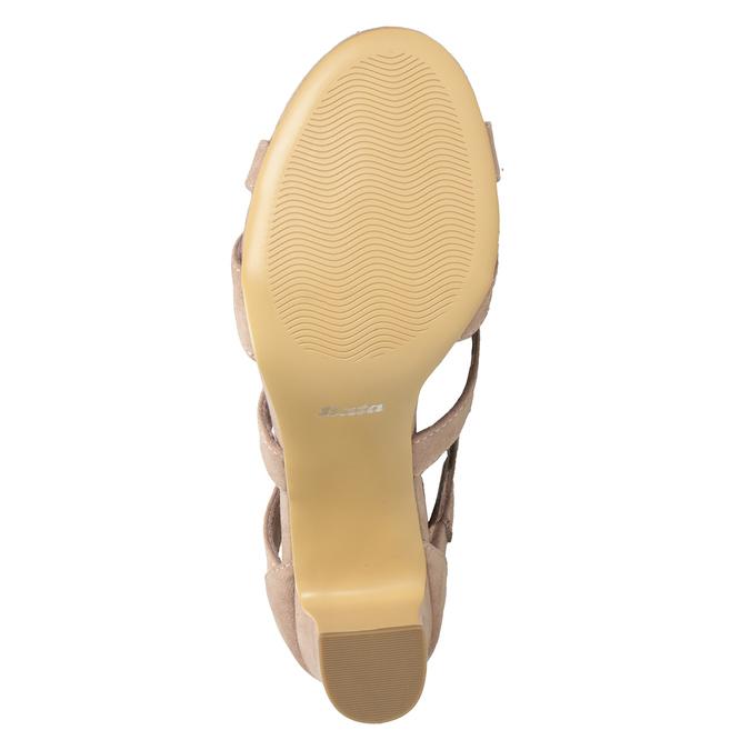 Růžové sandály na stabilním podpatku insolia, růžová, 769-5617 - 19