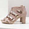 Růžové sandály na stabilním podpatku insolia, růžová, 769-5617 - 16