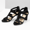 Černé sandály na stabilním podpatku insolia, černá, 769-6617 - 16