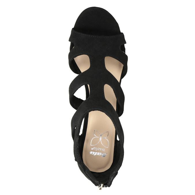 Černé sandály na stabilním podpatku insolia, černá, 769-6617 - 17