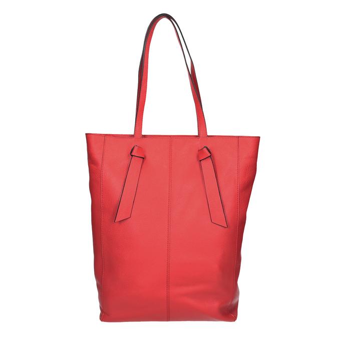 Červená kožená kabelka ve stylu shopping bag bata, červená, 964-5297 - 16