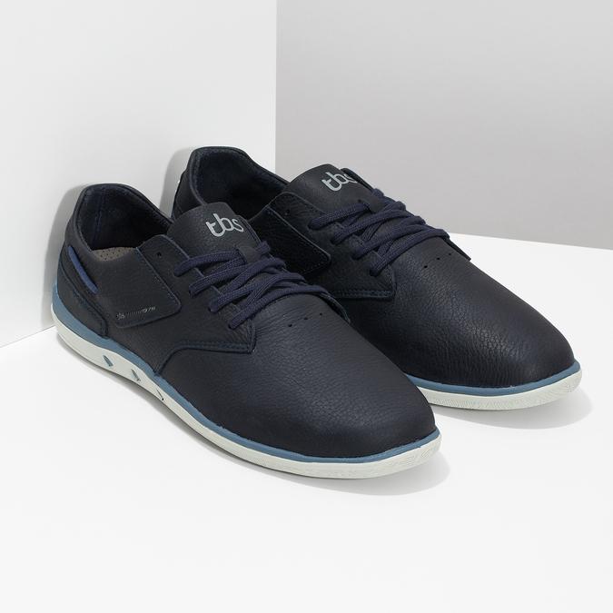 Pánské kožené tenisky modré tbs-, modrá, 826-9054 - 26
