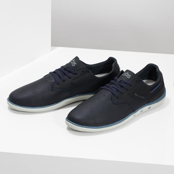 Pánské kožené tenisky modré tbs-, modrá, 826-9054 - 16