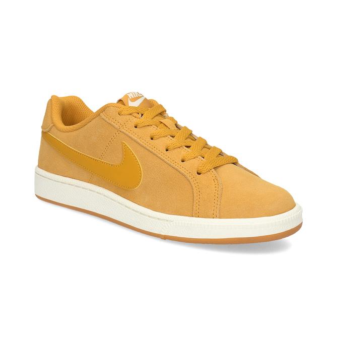 Dámské kožené žluté tenisky nike, žlutá, 503-8862 - 13