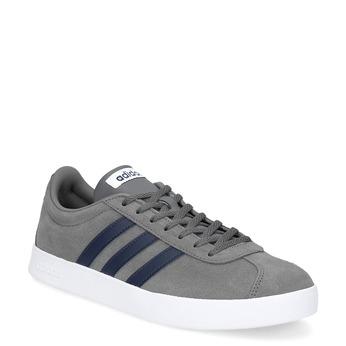 Pánské tenisky z broušené kůže šedé adidas, šedá, 803-2379 - 13