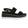 Černo-bílé sandály na flatformě bata, černá, 769-6631 - 19