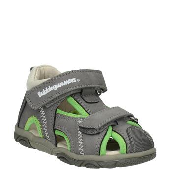 Šedo-zelené dětské sandály bubblegummers, šedá, 161-2604 - 13