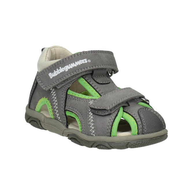 Bubblegummers Šedo-zelené dětské sandály - Sandály  75eaed5301