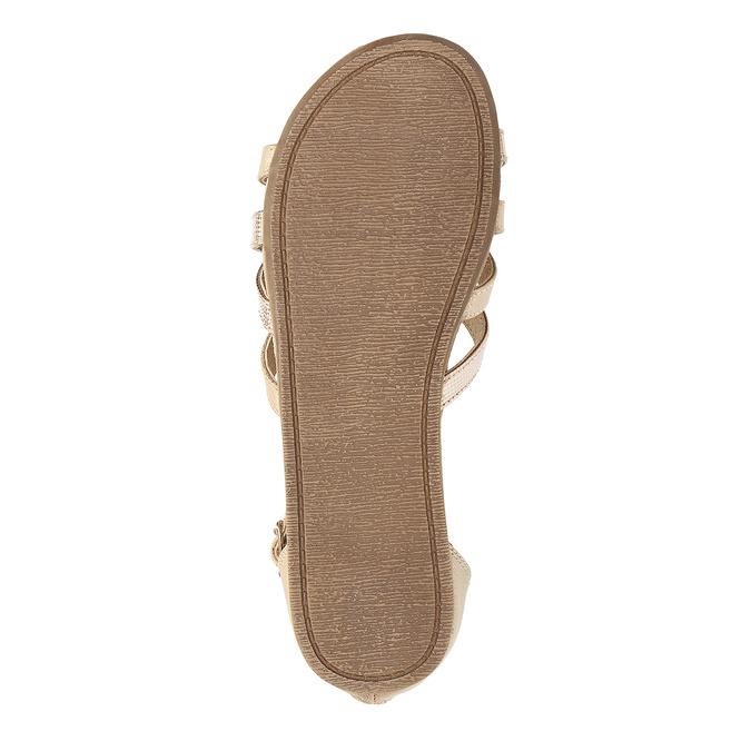 Zlaté dívčí sandály s pletením mini-b, zlatá, 361-8605 - 18