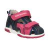 Dívčí sandály na suché zipy bubblegummers, růžová, 161-5604 - 13
