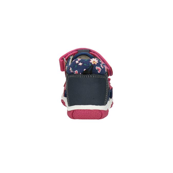 Dívčí sandály na suché zipy bubblegummers, růžová, 161-5604 - 15