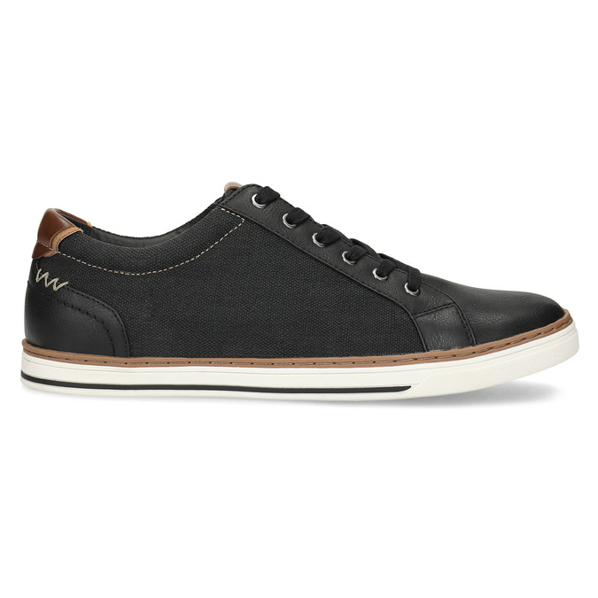 Pánské ležérní tenisky bata-red-label, černá, 841-6616 - 19