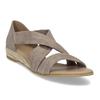 Kožené sandály na klínku bata, hnědá, 563-4600 - 13