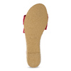 Červené kožené sandály na klínku bata, červená, 563-5600 - 18