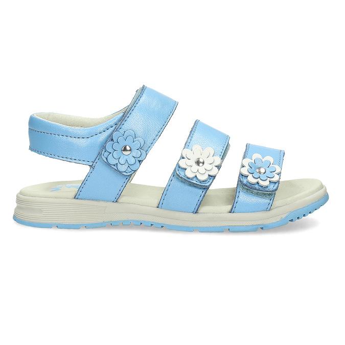 Letní dívčí sandály modré mini-b, modrá, 364-9601 - 19