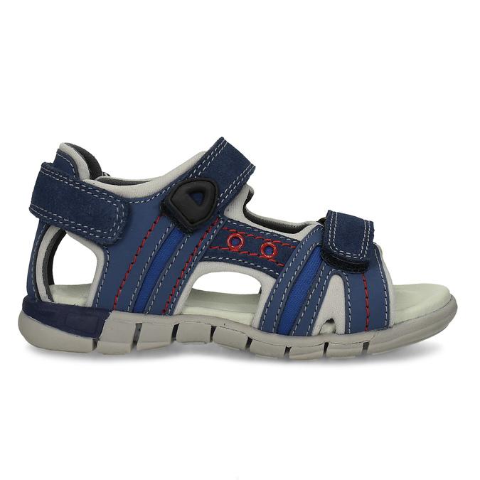 Dětské kožené sandály modré mini-b, 263-9605 - 19