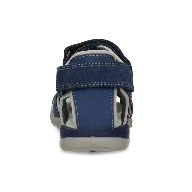 Dětské kožené sandály modré mini-b, 263-9605 - 15
