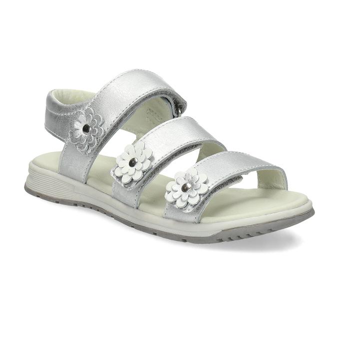 Stříbrné dívčí sandály mini-b, 364-1601 - 13