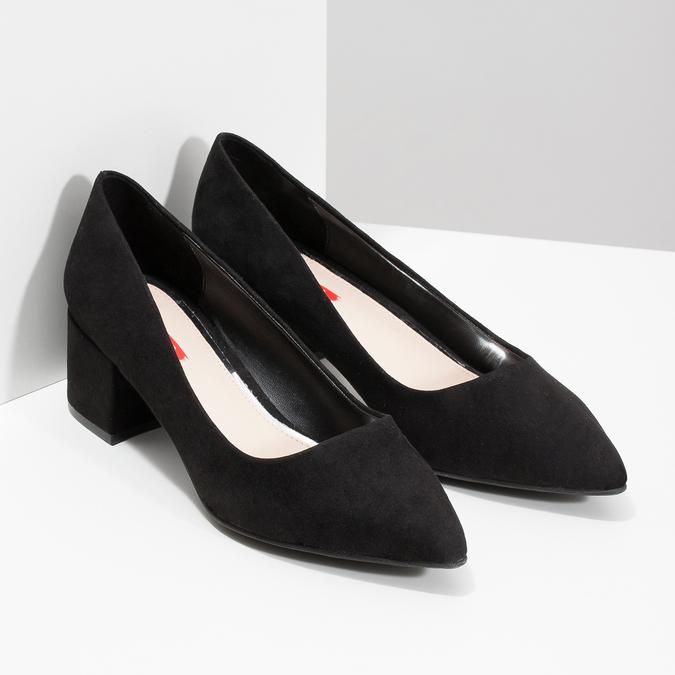 Černé lodičky na nízkém podpatku bata-red-label, černá, 629-6640 - 26