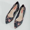 Květinové lodičky na nízkém podpatku bata-red-label, modrá, 629-5640 - 16