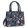 Modrá kabelka s květinovým vzorem bata-red-label, modrá, 961-9860 - 13