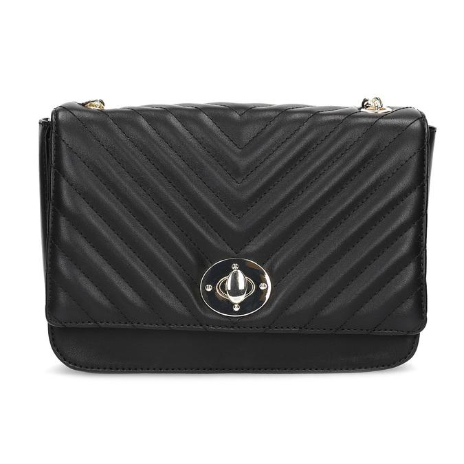 Černá prošívaná kabelka s řetízkem bata-red-label, černá, 961-6861 - 26