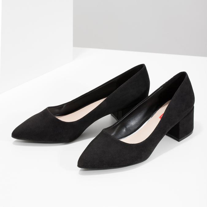 Černé lodičky na nízkém podpatku bata-red-label, černá, 629-6640 - 16
