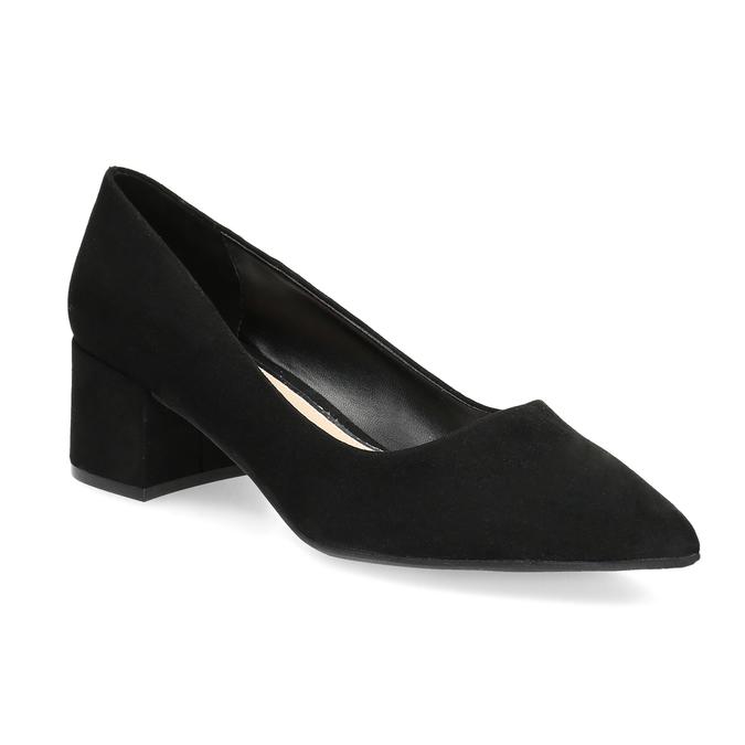 Černé lodičky na nízkém podpatku bata-red-label, černá, 629-6640 - 13
