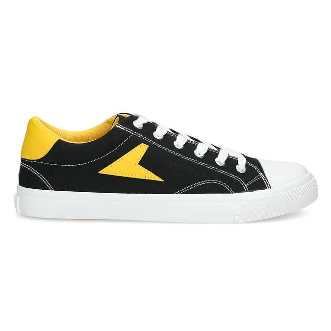 Černé tenisky se žlutými detaily bata-hotshot, černá, 889-8245 - 19