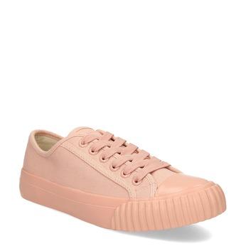 Růžové dámské tenisky s gumovou špičkou bata-bullets, růžová, 589-5333 - 13