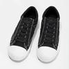 Černé pánské tenisky s bílým prošitím bata-hotshot, černá, 889-6245 - 16