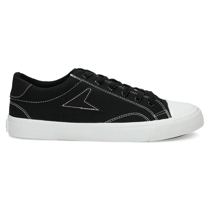 Černé pánské tenisky s bílým prošitím bata-hotshot, černá, 889-6245 - 19