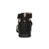 Černé dívčí sandály se zlatou sponou mini-b, černá, 361-6606 - 15