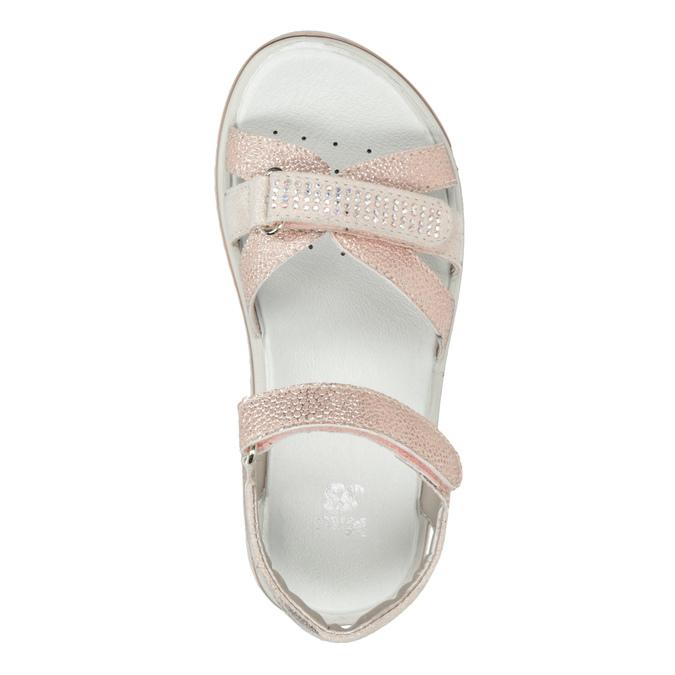 Dívčí růžové sandály s kamínky mini-b, růžová, 361-5612 - 17