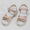 Dívčí růžové sandály s kamínky mini-b, růžová, 361-5612 - 16