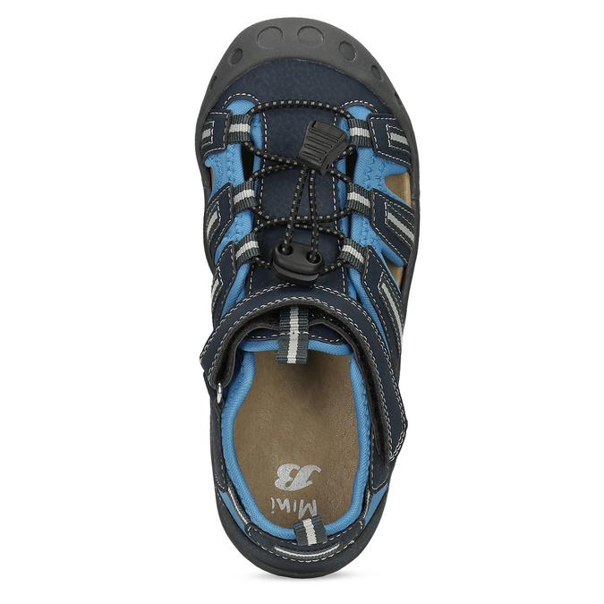 Dětské modré sandály mini-b, modrá, 461-9606 - 17