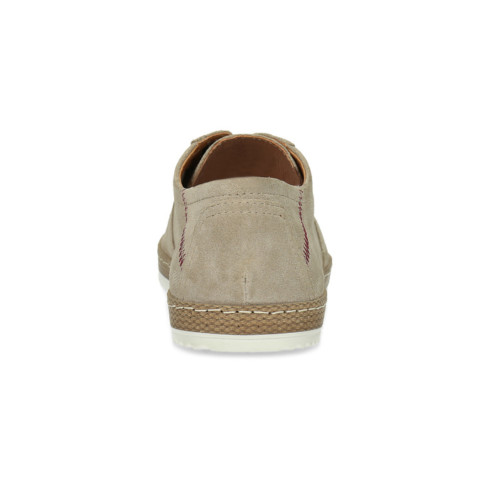 Pánské kožené tenisky s perforací béžové bata, béžová, 823-8617 - 15