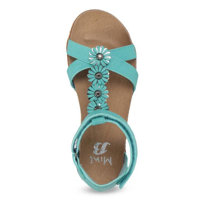 Tyrkysové dívčí sandály mini-b, tyrkysová, 361-9614 - 17