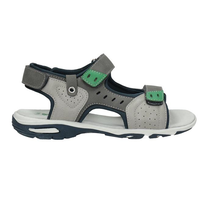 Chlapecké sandály ve sportovním stylu šedé mini-b, šedá, 461-2607 - 16