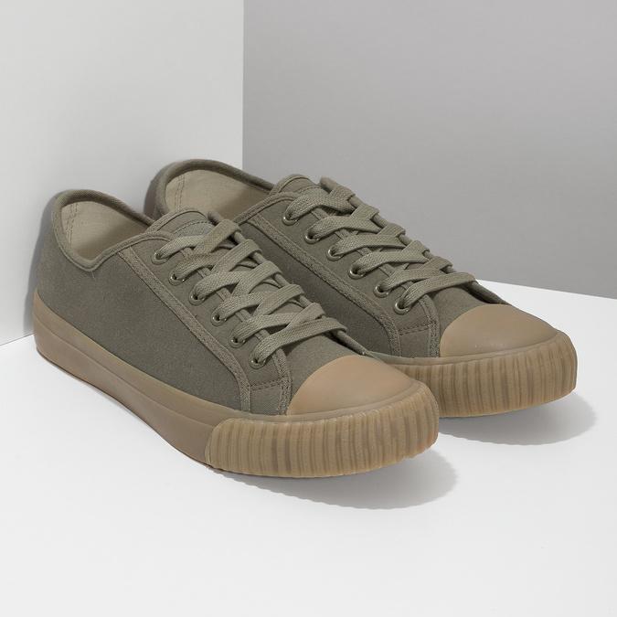 Pánské khaki tenisky bata-bullets, zelená, 889-7244 - 26