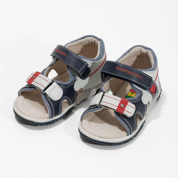 Modro-bílé dětské sandály bubblegummers, modrá, 161-9606 - 16