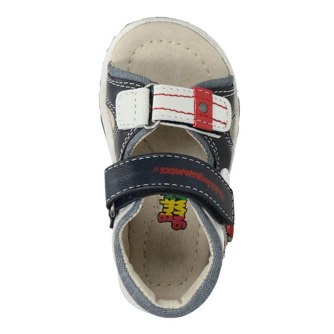 Modro-bílé dětské sandály bubblegummers, modrá, 161-9606 - 17