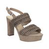 Dámské sandály na stabilním podpatku s proplétáním bata, hnědá, 769-3634 - 13