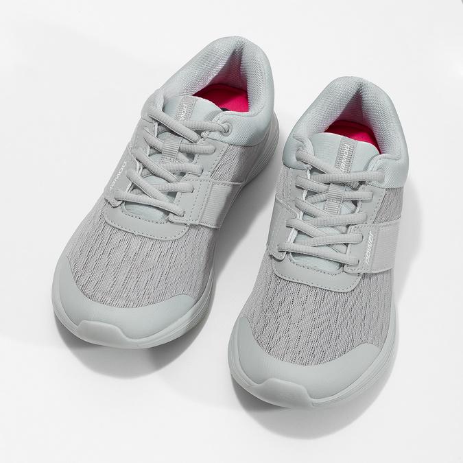 Šedé dámské tenisky s měkkou stélkou power, šedá, 509-2855 - 16