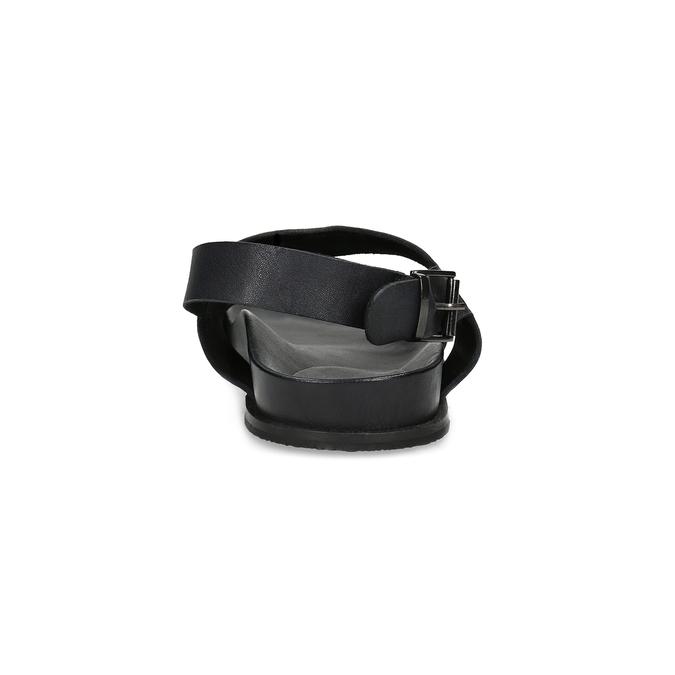 Černé pánské minimalistické kožené sandály bata, černá, 866-6638 - 15