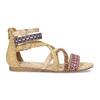 Páskové sandály v Etno stylu bullboxer, béžová, 361-8611 - 19