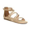 Dívčí sandály s perličkami bullboxer, béžová, 361-8609 - 13