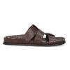 Hnědé pánské minimalistické kožené nazouváky bata, hnědá, 866-4639 - 19